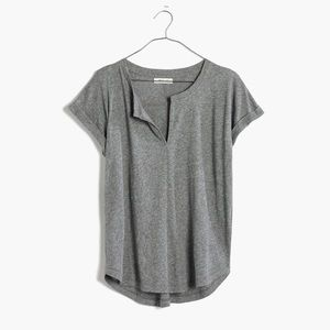Madewell Tuntable split neck short sleeve tee XS